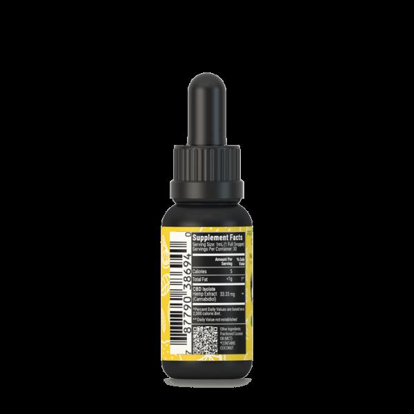 Lemon 1000mg broad spectrum cbd oil tincture w/ b12
