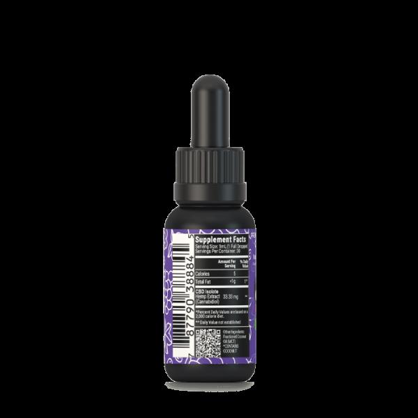 1000mg cbd oil tincutre w/ grape